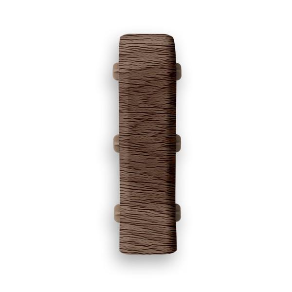 Фото - соединитель пвх 67 мм дуб капучино идеал элит 2 шт заглушки пвх 67 мм дуб мокко идеал элит 2 шт