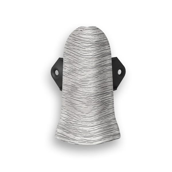 Фото - угол внешний пвх 67 мм дуб серый идеал элит 2 шт заглушки пвх 67 мм дуб мокко идеал элит 2 шт