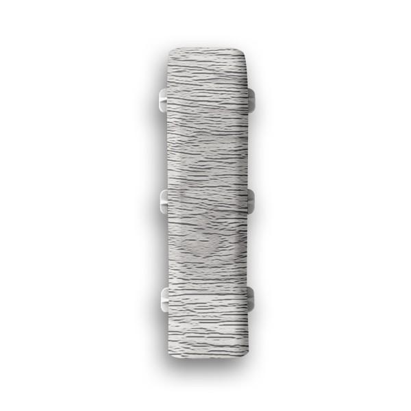 Фото - соединитель пвх 67 мм дуб серый идеал элит 2 шт заглушки пвх 67 мм дуб мокко идеал элит 2 шт