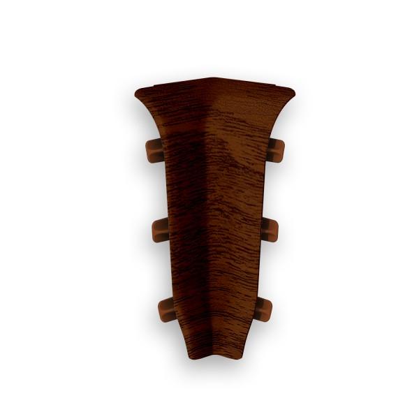 угол внутренний пвх 67 мм орех темный идеал элит 2 шт