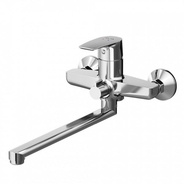 смеситель для ванны am pm с изливом gem f90a90000
