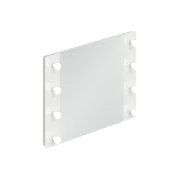зеркало гримерное итана 800х600 (лакобель 9003 pure white)