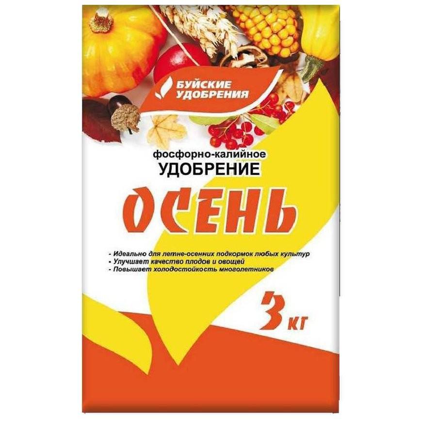 Удобрение фосфорно-калийное Осень 3,0кг в разделе Грунты и удобрения в интернет-магазине Akson.ru