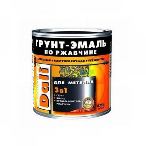 Фото - грунт-эмаль dali по ржавчине 3 в 1 гладкая 0,75л коричневый грунт эмаль по ржавчине 3 в 1 dali молотковая зеленая рогнеда 10л