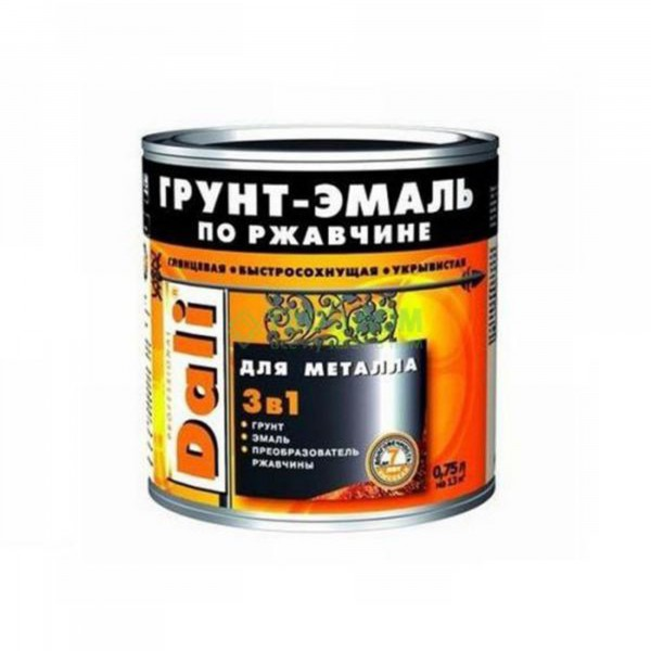 Фото - грунт-эмаль dali по ржавчине 3 в 1 гладкая 2л коричневый грунт эмаль по ржавчине 3 в 1 dali молотковая зеленая рогнеда 10л