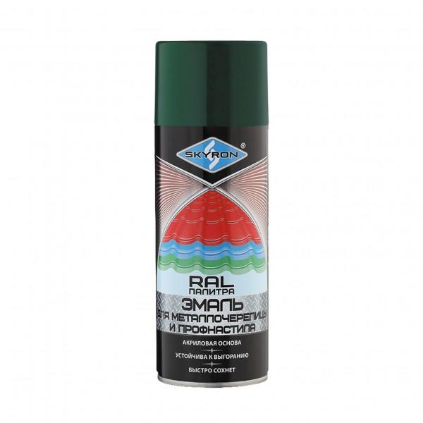 эмаль аэрозольная skyron для металлочерепицы зеленый мох (ral-6005) отлив pe ral 6005 зеленый мох 60х2000 мм