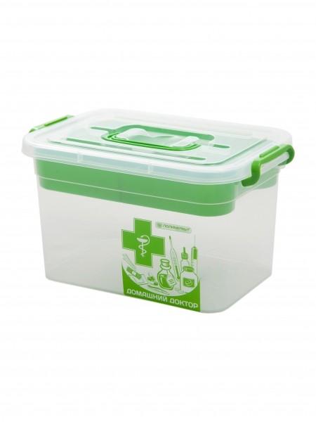 контейнер для аптечки домашний доктор с вкладышем 310*200*180 6,5л с80903