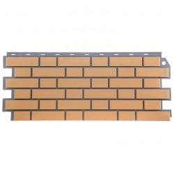 Фасадная панельFineBer,кирпичоблицовочный,цветжелтый,1.137х0.47м