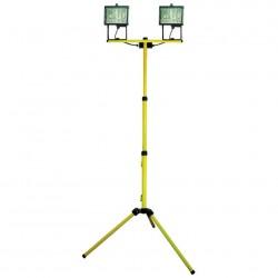 Прожектор на штативе Camelion FLS-500/2 (до 2м) 220В,2x500Вт,J-118mm