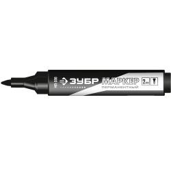Маркер черный МП-300, перманентный, заостренный наконечник, Зубр 06322-2