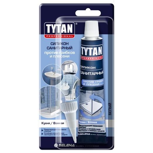 герметик tytan professional санитарный 85мл белый герметик силиконовый tytan 00638 санитарный белый 85 мл
