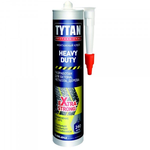 клей монтажный tytan professional heavy duty 310 мл