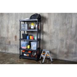Стеллаж вентилируемый Blocker Expert 90*45*180 5 полок черный BR3805ЧР