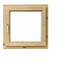 Одностворчатое деревянное окно с однокамерным стеклопакетом 58х58см