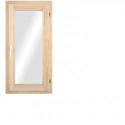 Одностворчатое деревянное окно с однокамерным стеклопакетом 116х58см