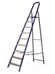 Стремянка стальная  9 ступеней 1,87м, 150кг Алюмет 8409