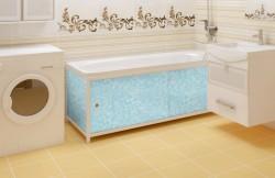 Экран для ванны Универсал-ультра 1,68м голубой иней
