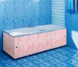 Экран для ванны Премиум А 1,48м розовый