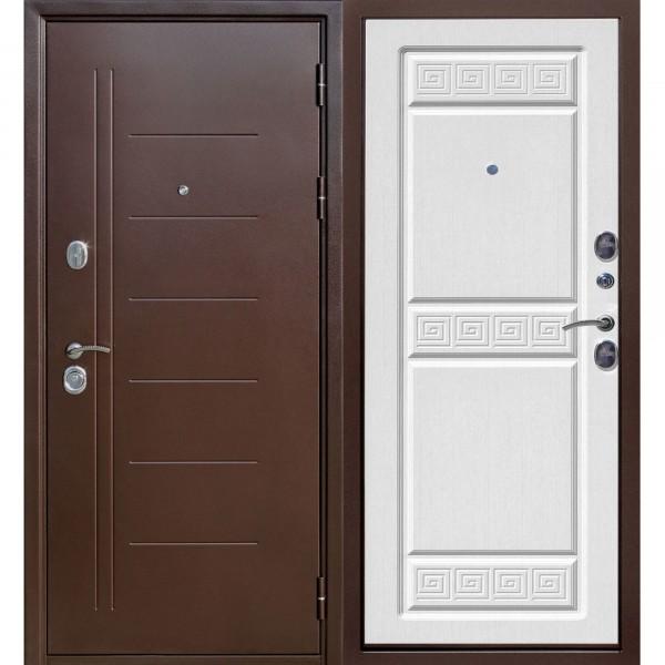 дверь входная 10 см троя медный антик белый ясень (960мм) правая 2050х960 правая,