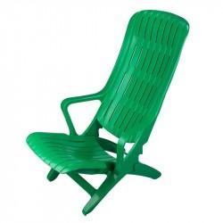 Шезлонг зеленый, складной малый