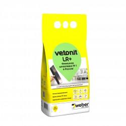 Шпаклевка полимерная белая Weber.vetonit LR+, 5 кг