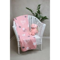 Плед флис Belezza kitten 6137654 120*150 розовый