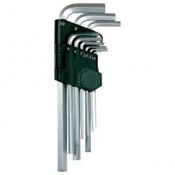 Набор ключей шестигранных  9шт 1,5-10мм удлиненных с шаром Matix 11233
