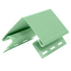 Угол внешний для сайдинга FineBer, цвет салатовый, 3.05 м