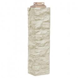 Угол наружный к фасадной панели FineBer скала, цвет песочный, 0.47 м