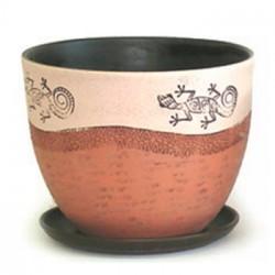 Горшок керамический Саламандра №3 Овал 15см