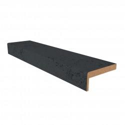 Наличник ПВХ бетон темный 8*70 телескопический