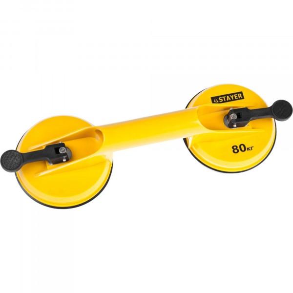 стеклодомкрат stayer master maxlift, пластмассовый, двойной, г/п 80кг, 33718-2 паяльник stayer 150вт maxterm master 55311 150
