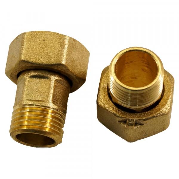 Фото - штуцер для счётчика воды с накидной гайкой 1/2 (2 шт.), mp шпилька din976 с гайкой и шайбой м10x140 2 шт