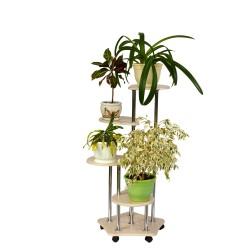 """Подставка для цветов """"Четверочка"""" дуб беленый 1616077901"""