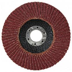 Круг лепестковый торцевой для МШУ 150*22мм Р80 (Луга)