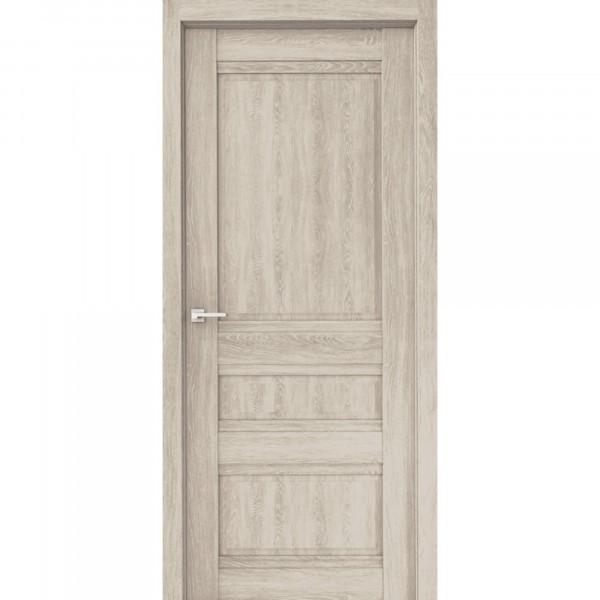 полотно дверное глухое эко сардиния дг,пвх 2000х800мм,дуб филадельфия крем