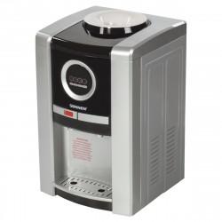 Кулер для воды Sonnen teb-02 настольный,нагрев/охлаждение электронное,2 крана,серебристый/черный 453
