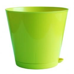 Горшок пластиковый для цветов Крит D-160мм с системой прикорневого полива 1,8л  салатовый