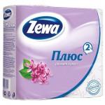 Бумага туалетная Zewa Plus 2-х сл. Сирень 4шт