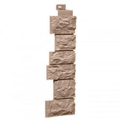 Угол наружный к фасадной панели FineBer камень дикий, цвет терракотовый, 0.47 м