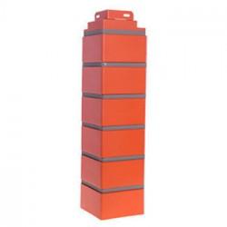 Угол наружный к фасадной панели FineBer кирпич облицовочный, цвет керамический, 0.47 м