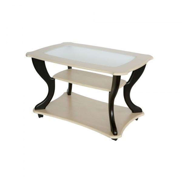 стол журнальный маэстро сжс-02 дуб/венге со стеклом 3525160908