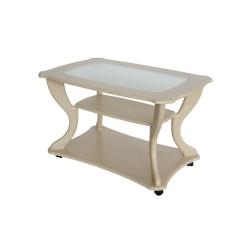 Стол журнальный Маэстро сжс-02 дуб беленый со стеклом 3525160901