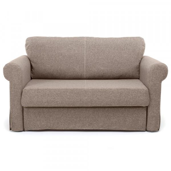 диван-кровать вельс рогожка бежевый 2-х местный 87х89см