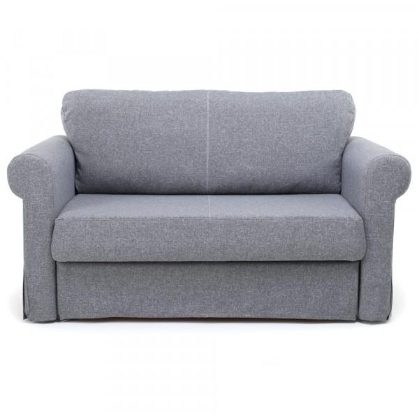 диван-кровать вельс рогожка серый 2-х местный 87х89см