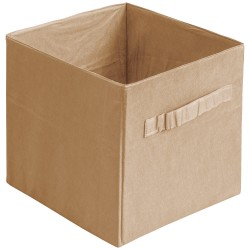 Коробка стеллажная на молнии 310*310*310мм Бежевый