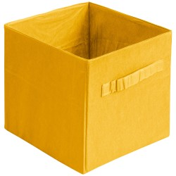 Коробка стеллажная на молнии 310*310*310мм Желтый