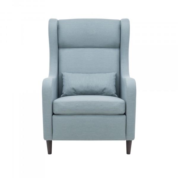 кресло классическое leset хилтон 102х70см ткань синий