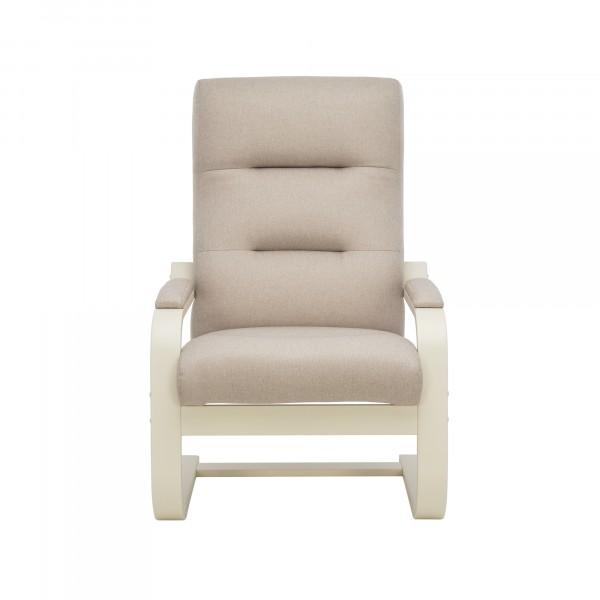 кресло дизайнерское leset оскар 104х80см слоновая кость, ткань черный