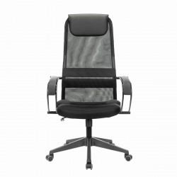 Кресло офисное Brabix premium stalker ex-608 pl, ткань-сетка/кожзам, черное, 532090